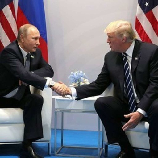 Presidents Trump and Putin meet privately